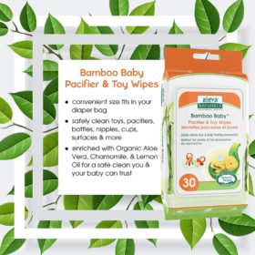 Buy Aleva Naturals Bamboo Baby Pacifier and Toy Wipes, 30 Counts online with Free Shipping at Baby Amore India, Babyamore.in