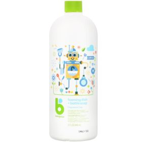 Buy Babyganics Foaming Dish + Bottle Soap, Fragrance Free, 32 fl.oz / 946ml online with Free Shipping at Baby Amore India, Babyamore.in
