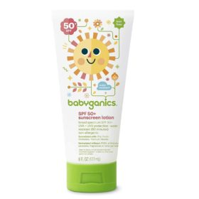 Buy Babyganics SPF 50+ Sunscreen Lotion, 6 fl.oz / 177ml online with Free Shipping at Baby Amore India, Babyamore.in