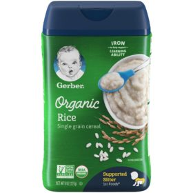 Buy Gerber Organic Rice Single Grain Cereal - 227g online with Free Shipping at Baby Amore India, Babyamore.in