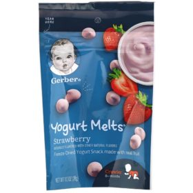 Buy Gerber Yogurt Melts, 8+ Months, Strawberry - 28g online with Free Shipping at Baby Amore India, Babyamore.in
