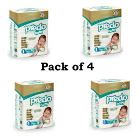 Buy Predo Baby New Born 2-5kg, Size 1, 13 pieces (Pack of 4) online with Free Shipping at Baby Amore India, Babyamore.in
