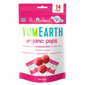 Buy YumEarth Organic Strawberry Pops, 87g online with Free Shipping at Baby Amore India, Babyamore.in