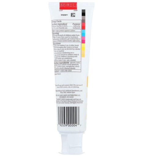 Buy Burt's Bees Kids Fruit Fusion Toothpaste with Fluoride, 4.2oz/119g online with Free Shipping at Baby Amore India, Babyamore.in