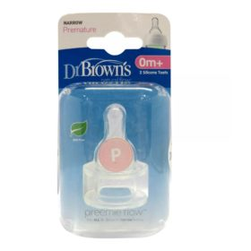 Buy Dr. Brown's Original Narrow Nipple, Premature (0m+), Pack of 2 online with Free Shipping at Baby Amore India, Babyamore.in