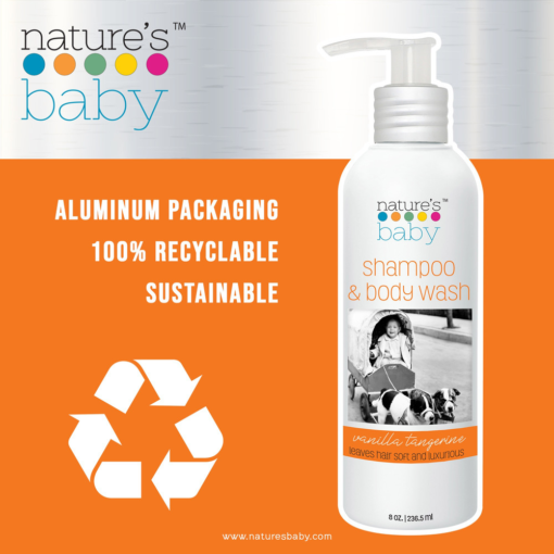 Buy Nature's Baby Organic Shampoo & Body Wash Vanilla & tangerine 8oz/236.5ml online with Free Shipping at Baby Amore India, Babyamore.in