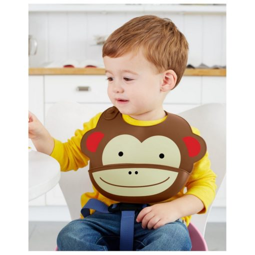 Buy Skip Hop Zoo Fold & Go Silicone Bib online with Free Shipping at Baby Amore India, Babyamore.in