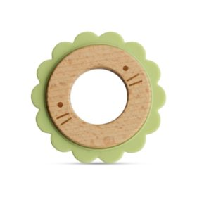 Buy Little Rawr Wood + Silicone Disc Teether online with Free Shipping at Baby Amore India, Babyamore.in
