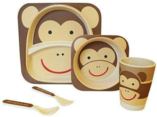 Buy Bamboo Fibre Eco Friendly Monkey Dinnerware Set online with Free Shipping at Baby Amore India, Babyamore.in