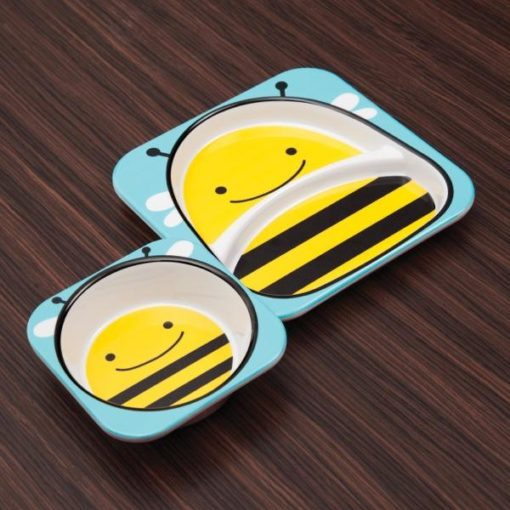 Buy Bamboo Fibre Eco Friendly Bees Dinnerware Set online with Free Shipping at Baby Amore India, Babyamore.in
