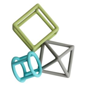 Buy Little Rawr Silicone Geometric Teether Set online with Free Shipping at Baby Amore India, Babyamore.in