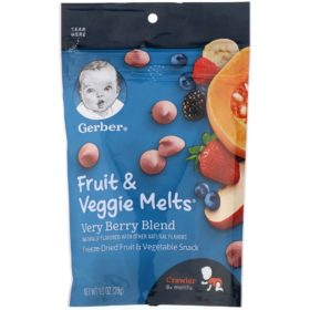 Buy Gerber Fruit & Veggie Melts, Very Berry Blend, 8+ Months - 28g online with Free Shipping at Baby Amore India, Babyamore.in