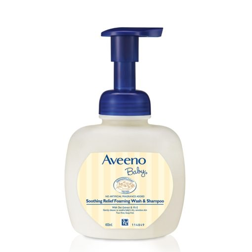 Buy Aveeno Baby Soothing Relief Foaming Wash & Shampoo, 400ml online with Free Shipping at Baby Amore India, Babyamore.in