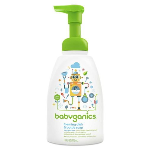 Buy Babyganics Foaming Dish & Bottle Soap, Fragrance Free, 473ml online with Free Shipping at Baby Amore India, Babyamore.in