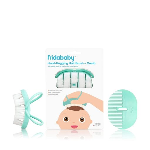 Buy Fridababy Infant Head Hugging Hair Brush + Styling Comb Set online with Free Shipping at Baby Amore India, Babyamore.in