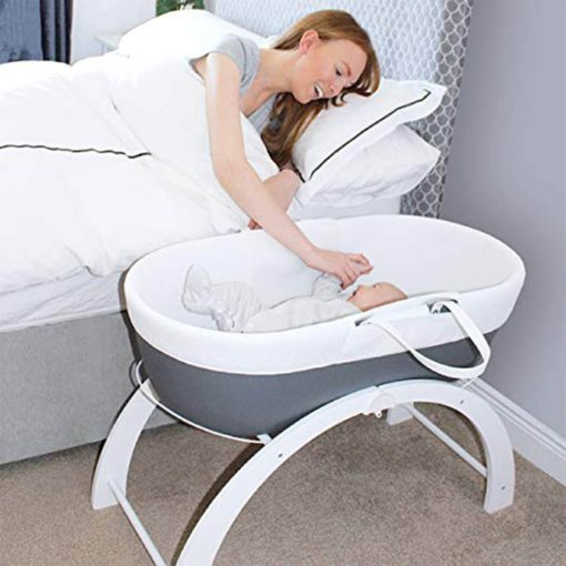 Buy Shnuggle Dreami Baby Sleeper Grey Base + 2 in 1 Curve Stand - Slate Grey online with Free Shipping at Baby Amore India, Babyamore.in
