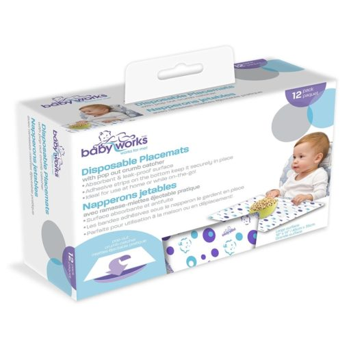 Buy Disposable Placemats With Crumb Catcher, Pack of 12 online with Free Shipping at Baby Amore India, Babyamore.in
