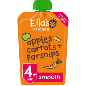 Buy Ella's Kitchen Apples Carrots Parsnips, 4m+, 120g online with Free Shipping at Baby Amore India, Babyamore.in