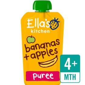 Buy Ella's Kitchen Peaches + Banana,  4m+, 120g online with Free Shipping at Baby Amore India, Babyamore.in