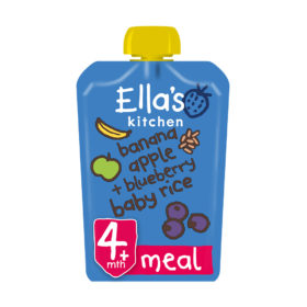 Buy Ella's Kitchen Banana Apple + Blueberry Baby Rice,  4m+, 120g online with Free Shipping at Baby Amore India, Babyamore.in