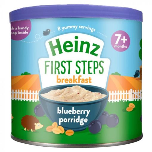Buy Heinz First Steps Breakfast Blueberry Porridge, 7m+, 240g online with Free Shipping at Baby Amore India, Babyamore.in