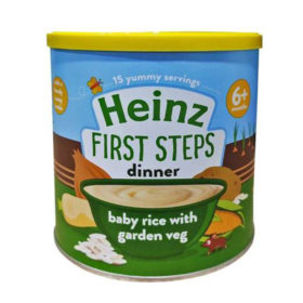 Buy Heinz First Steps Dinner Baby Rice with Garden Veg, 6m+, 200g online with Free Shipping at Baby Amore India, Babyamore.in