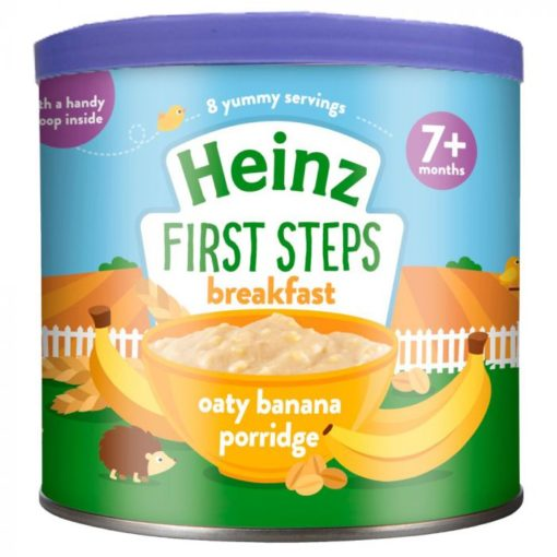 Buy Heinz First Steps Breakfast Oaty Banana Porridge, 7m+, 240g online with Free Shipping at Baby Amore India, Babyamore.in