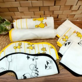 Buy Tiny Lane All in One Bamboo Cotton Swaddles Gift Pack - Duck & Plain online with Free Shipping at Baby Amore India, Babyamore.in