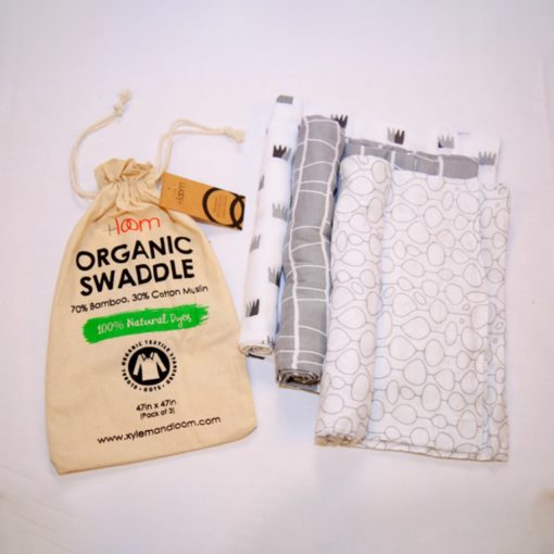 Buy Tiny Lane Super Soft Bamboo Cotton Classic Swaddles, Pack of 3 online with Free Shipping at Baby Amore India, Babyamore.in