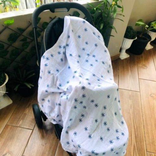 Buy Tiny Lane Super Soft Bamboo Indigo Grey Swaddle online with Free Shipping at Baby Amore India, Babyamore.in