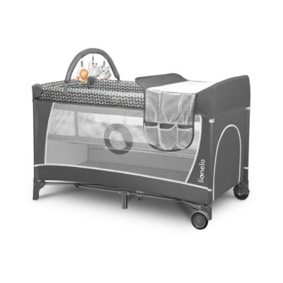 Buy Lionelo Flower 2 in 1 Travel Bed Playpen, Grey online with Free Shipping at Baby Amore India, Babyamore.in